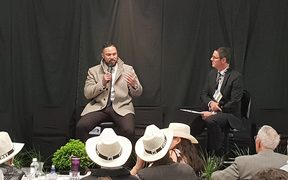 Joseph Parker at the NZ First conference.