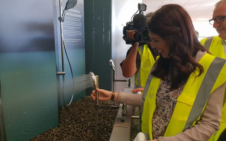 Prime Minister Jacinda Ardern made the announcement at Methven, a leading manufacturer of showers, valves and tapware.