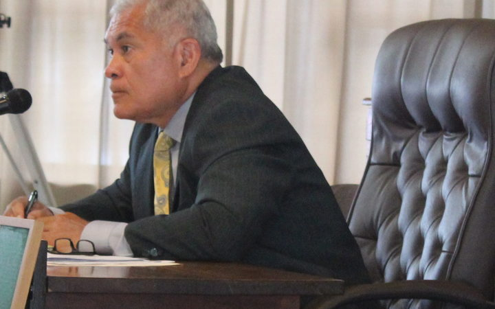 The late executive director of the American Samoa Power Authority, Utu Abe Malae, when he appeared early this year before a Senate committee.