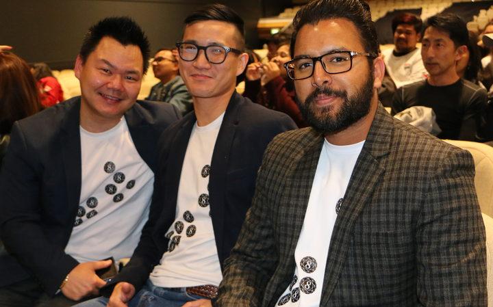 K-Pop fans Raval Bhandal, Alex Chai and Des Chang.
