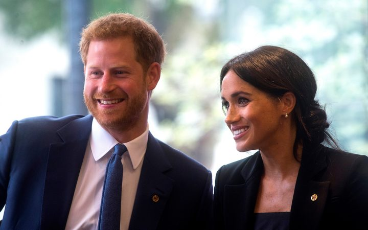 Prince Harry, Duke of Sussex, and his wife Meghan, Duchess of Sussex in London.