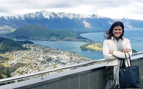 Icelandic Minister of Tourism, Industry and Innovation Þórdís Kolbrún Reykfjörð Gylfadóttir in Queenstown.