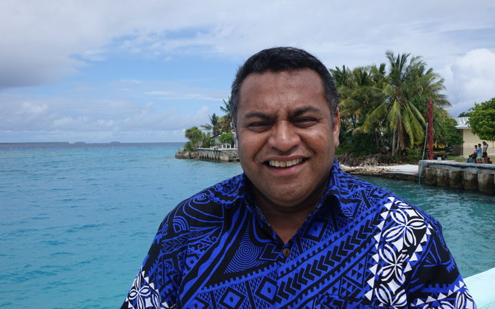 Civil Defence Minister Kris Faafoi during a visit to Tokelau in October, 2018.