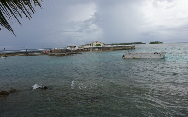 A 2-metre sea wall is the only defence against rising tides in Fakaofo, Tokelau.