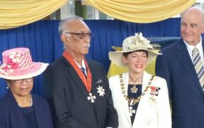 Niue premier Sir Toke Talagi was conferred with his knighthood in March 2017 on Niue by NZ Governor General Dame Patsy Reddy