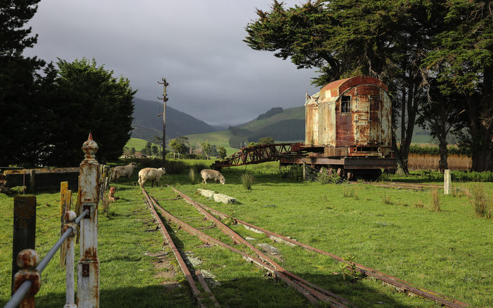 The remnants of the original Tokomaru train station.