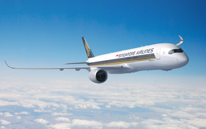 Singapore Airline's new Airbus A350-900ULR which will embark on the world's longest non-stop plane journey.