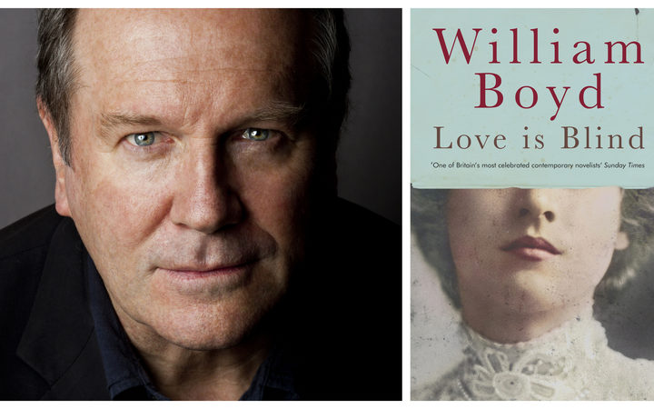 Author William Boyd and his latest book, Love is Blind