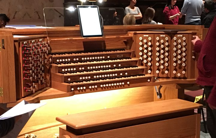The new digital organ at Wellington's Cathedral of St Paul's