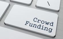 Crowdfunding button on keyboard