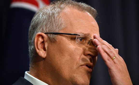 Australia's incoming Prime Minister Scott Morrison speaks at a press conference in Canberra on August 24, 2018 after a stunning Liberal party revolt instigated by hardline conservatives unseated moderate Malcolm Turnbull.