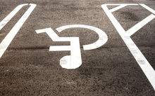 Car park for a disabled person.
