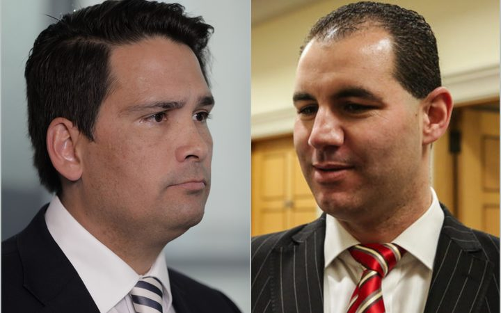 National Party Leader Simon Bridges and former National MP Jami-Lee Ross.