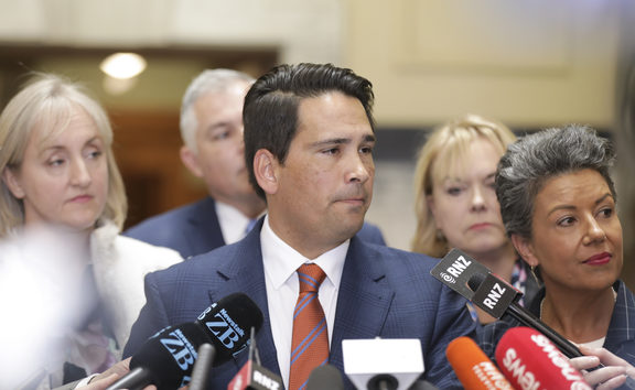 National Party Leader, Simon Bridges, speaks to media about Jami-Lee Ross.