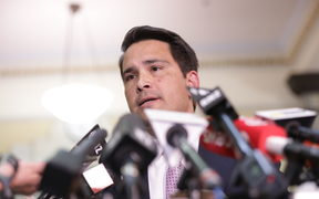 Simon Bridges under pressure.