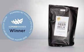 Deer milk from Pāmu Foods has won a prize for the most novel product.