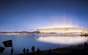 Artist's impression of a new Auckland stadium.