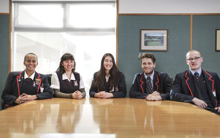Newlands College students talk about what their future plans are. Shani McMullan, Emily Bain, Emily Hollis, Matthew Cottle and Daunte Tuilaepa.