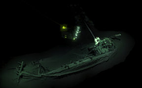 An ancient Greek trading ship dating back more than 2400 years has been found virtually intact at the bottom of the Black Sea, researchers say.