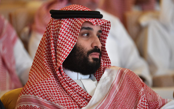 Saudi Crown Prince Mohammed bin Salman attends the Future Investment Initiative conference in Riyadh.