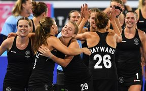 The Black Sticks celebrate their Commonwealth Games win over England