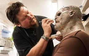Weta artist Gino Acevedo at work