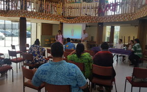 Bowel cancer meeting at the Congregational Christian Church of Samoa in Napier.