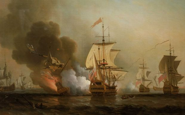 A painting in the National Maritime Museum, London, depicts the San Jose exploding before it sank off Cartagena in 1708.