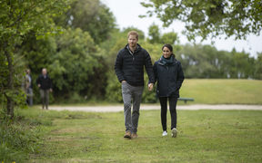 The Duke and Duchess of Sussex Prince Harry and Meghan Markle visit Totaranui Campground in the Abel Tasman National Park.