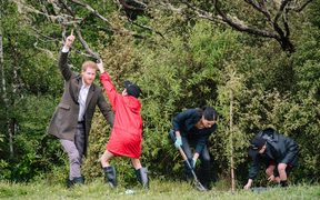 The Duke and Duchess of Sussex unveiled a Queens Canopy dedication at North Shore Riding Club.