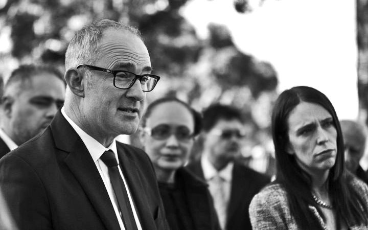 Housing Minister Phil Twyford and Prime Minister Jacinda Ardern.