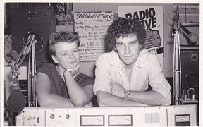 1984 Radio Active co-managers Linda Dale and Stu Birch.