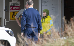 Jo Morgan returns to Mt Cook Village after escaping an avalanche.