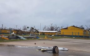 Hopwood Middle School was severely damaged by Super Typhoon Yutu