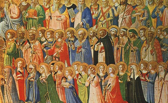 The Forerunners of Christ with Saints and Martyrs - Fra Angelico (1420s)