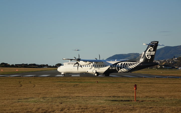 Air New Zealand plane in Nelson