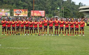 PNG Kumuls sing their anthem with pride