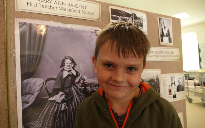 Kyro David Peter Baigent, 7, is going to be cutting the ribbon to celebrate Wakefield School's 175th birthday.