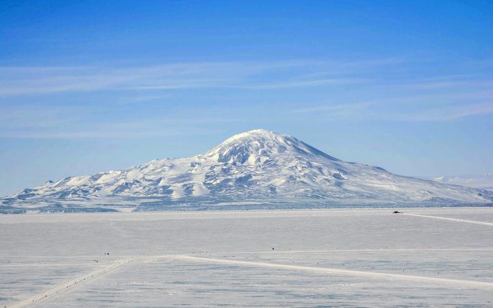 Mt Erebus Ross Island Antarctica.