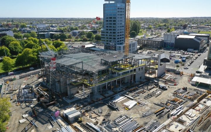 Construction of Te Pae convention centre in Christchurch, November 2018.