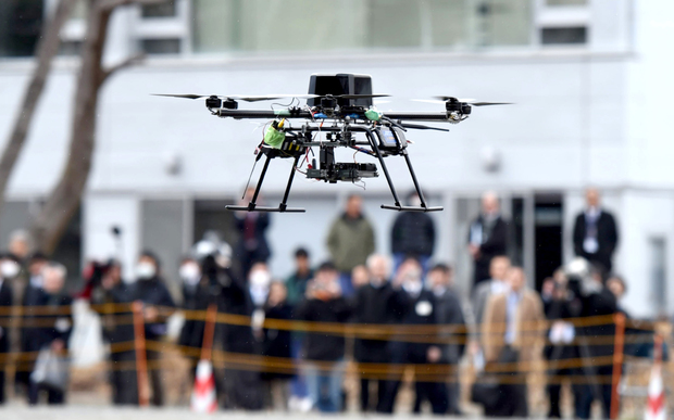These drones, developed by a venture company set up by Chiba University, will be mass-produced about 4000 per year in two years in Minami-Soma, Fukushima Prefecture.