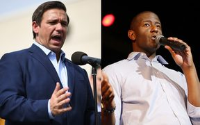 Ron DeSantis (left) and Andrew Gillum are seeking to become Governor of Florida.