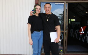 Nicole Duncan and Dekota Simpson are happy to have graduated from the Fletcher Building Connect programme.