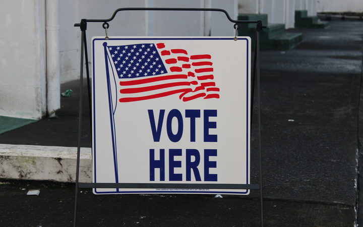 A voting sign in American Samoa
