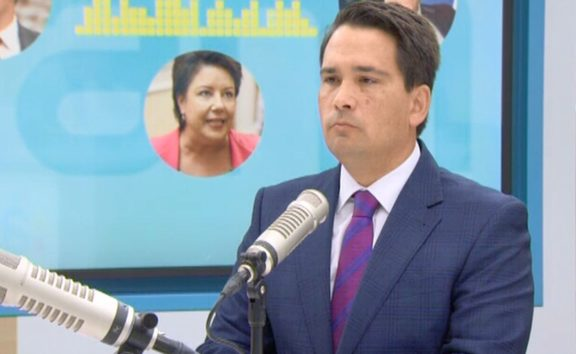 Simon Bridges on the AM show confronted with another secret recording of himself talking to Jami Lee Ross,