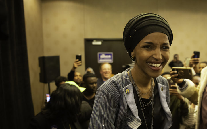 Ilhan Omar, newly elected to the US House of Representatives on the Democratic ticket.