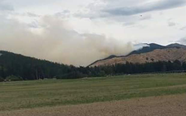A fire in a commercial pine forest plantation to the south of the Wairau Valley township in Marlborough, on 10 December 2015.