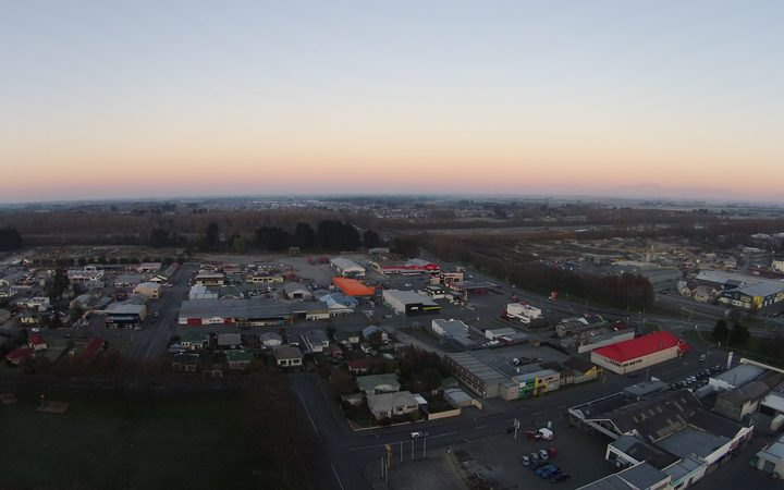 Sunrise over Ashburton.