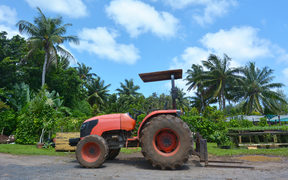 A tractor on a farm in the Pacific