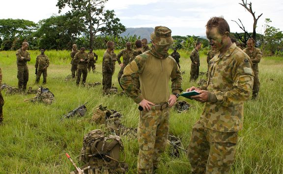 Australian soldiers during a previous training exercise in PNG